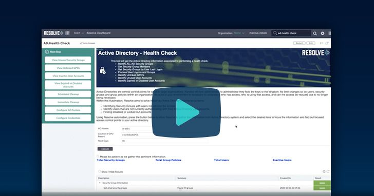 Active Directory Health Check