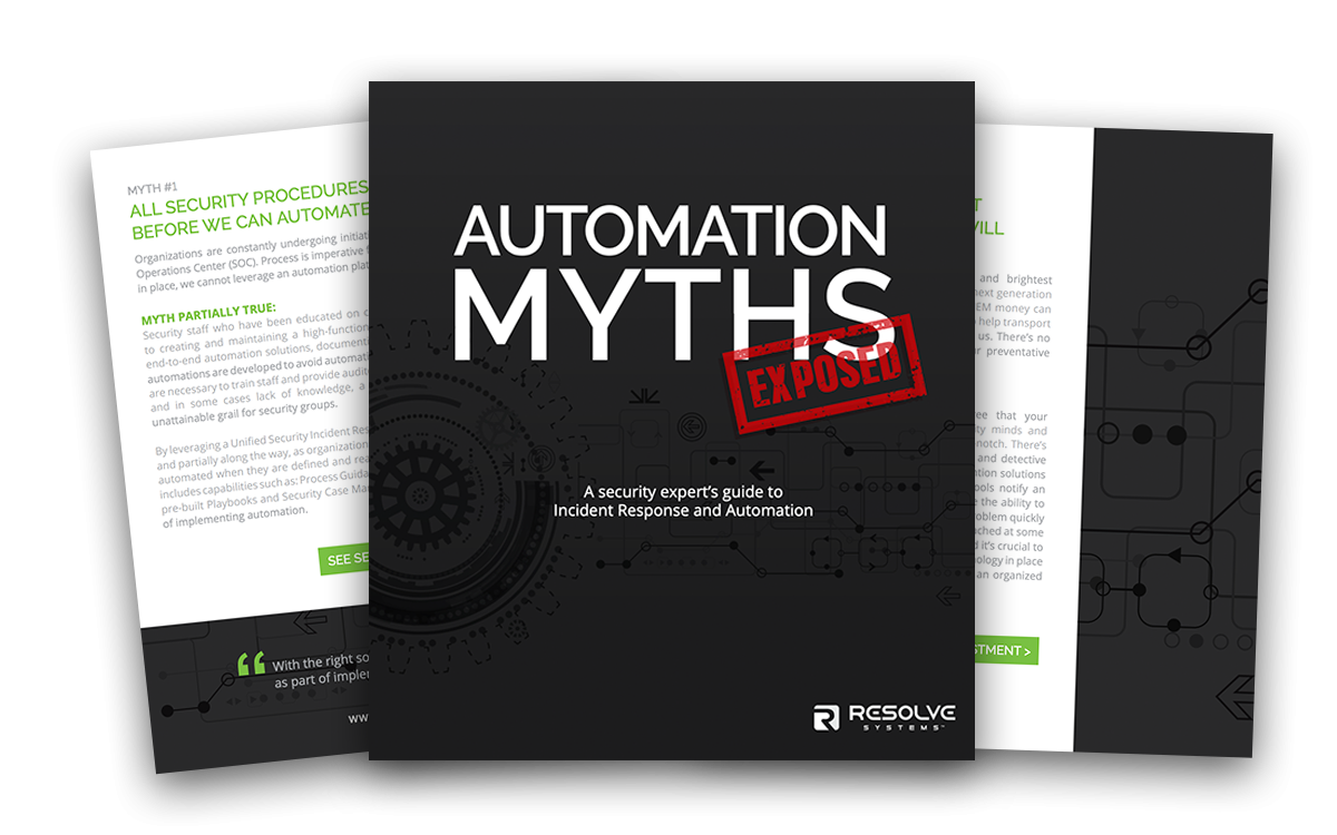 Security Incident Response and Automation Myths Exposed