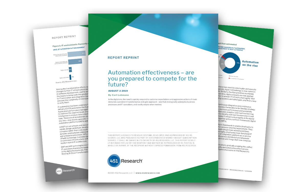[451 Research] IT Automation effectiveness - are you prepared to compete for the future?