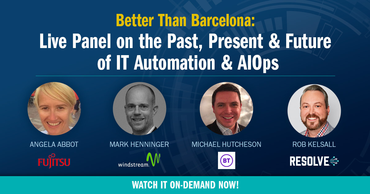 Panel Webcast on the Past, Present & Future of IT Automation & AIOps