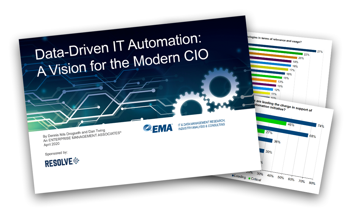 EMA Research: Data-Driven IT Automation — A Vision for the Modern CIO