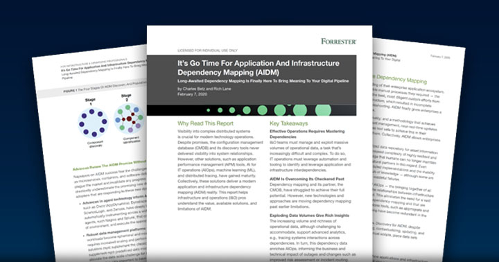 Forrester Research: It's Go Time For Application And Infrastructure Dependency Mapping