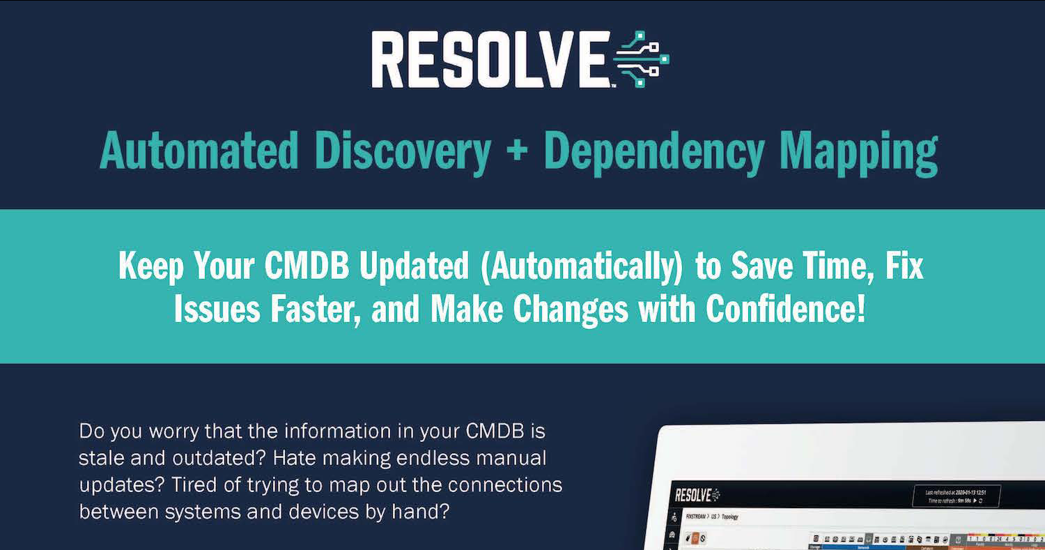 Auto-Discovery and Dependency Mapping Datasheet