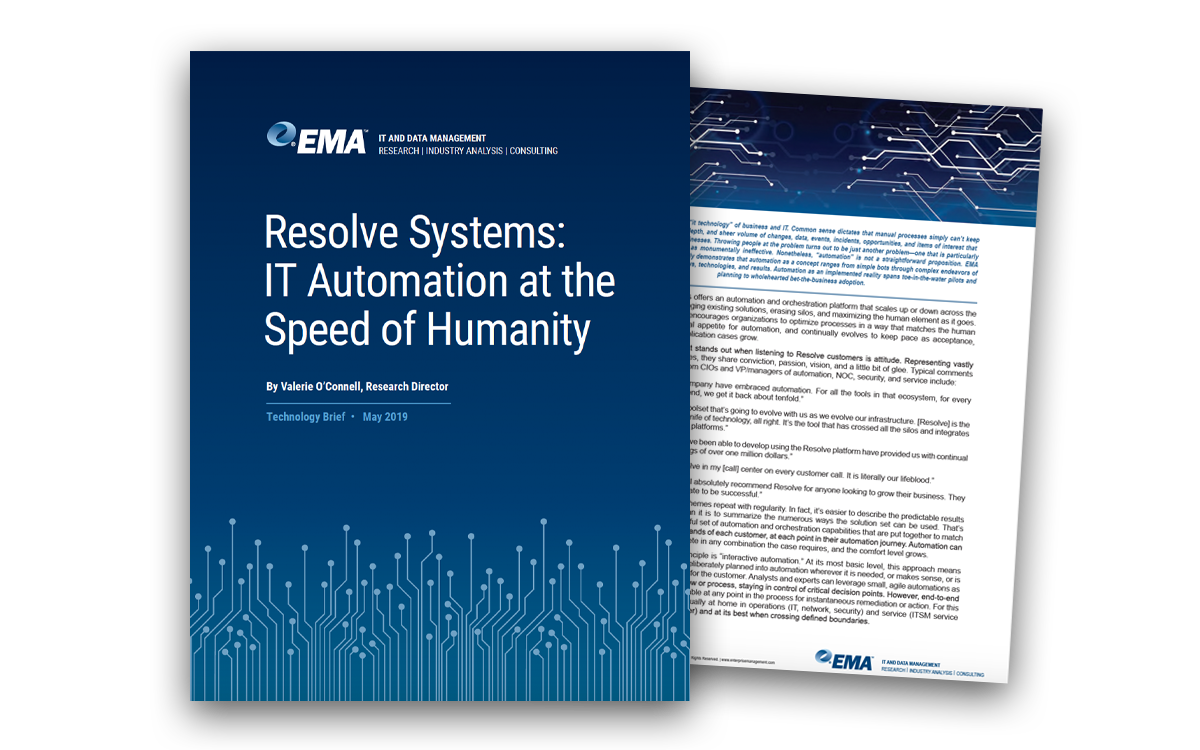 New EMA Analyst Report: IT Automation at the Speed of Humanity