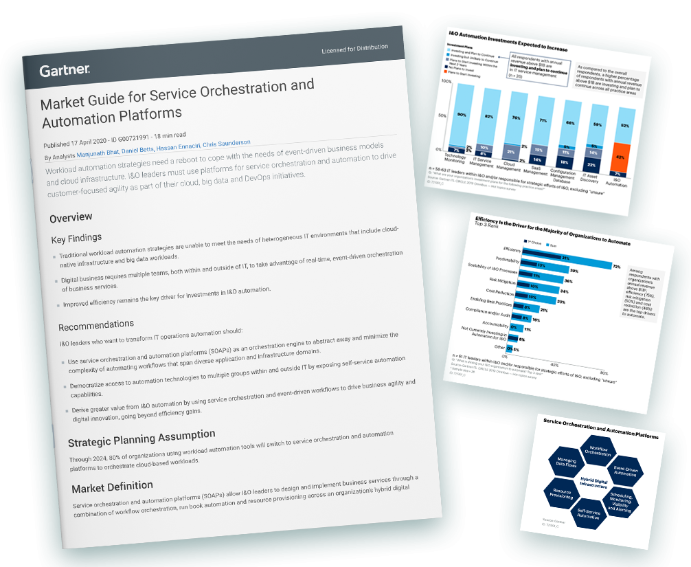 Gartner 2020 Market Guide for Service Orchestration and Automation Platforms