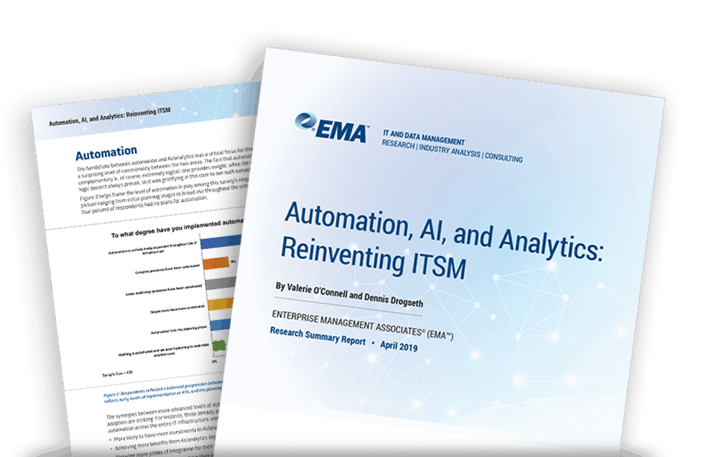 EMA Research: How Automation, AI and Analytics Are Reinventing ITSM