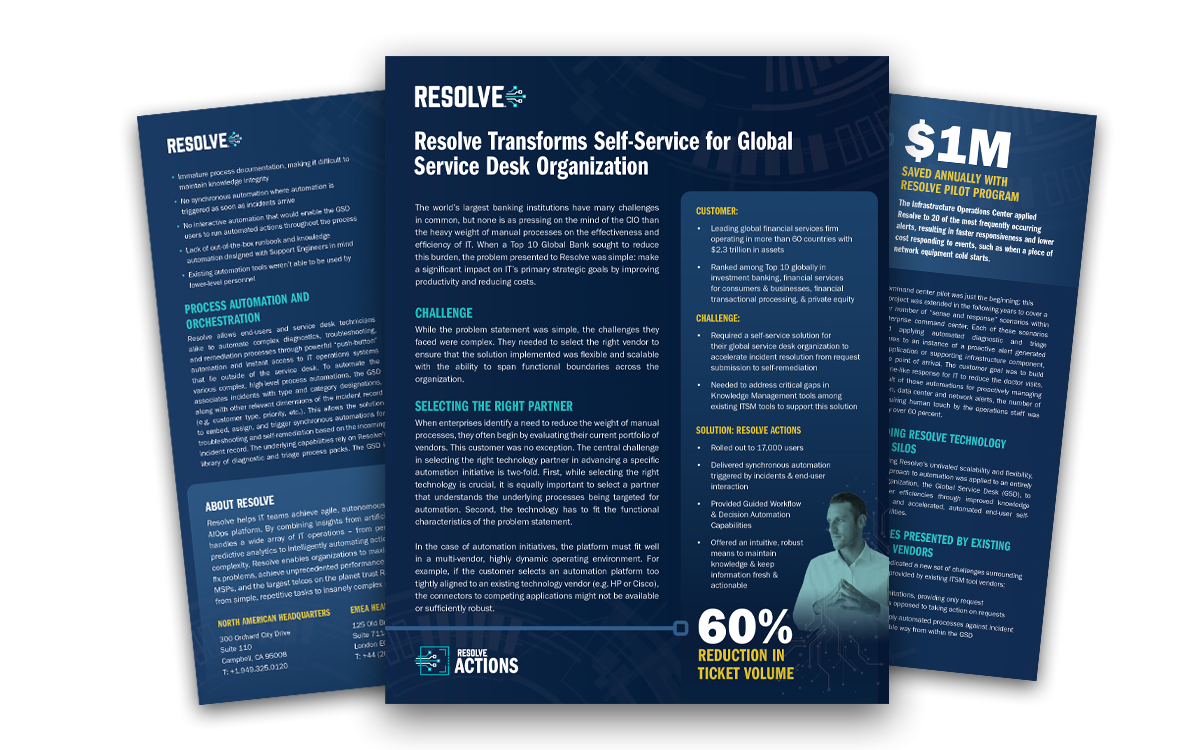 A Global Financial Services Firm Case Study