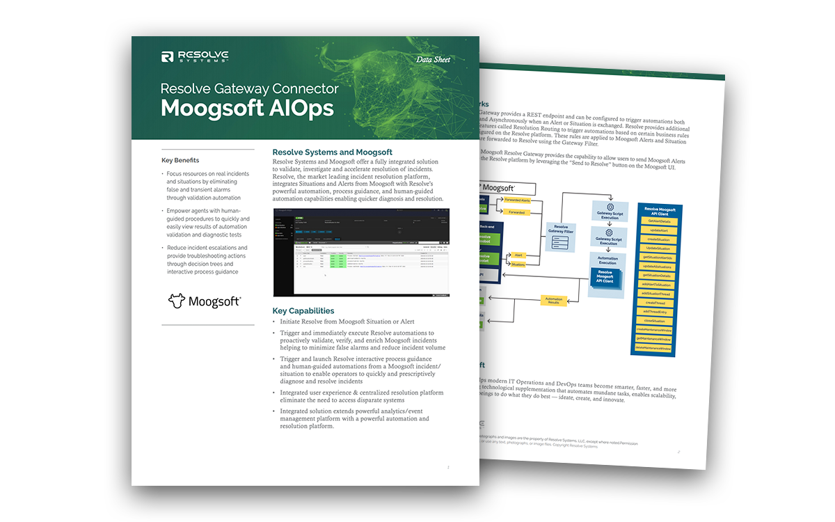 Resolve Integration with Moogsoft AIOps